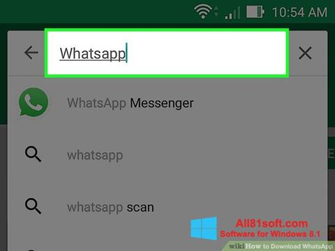 Snimak zaslona WhatsApp Windows 8.1