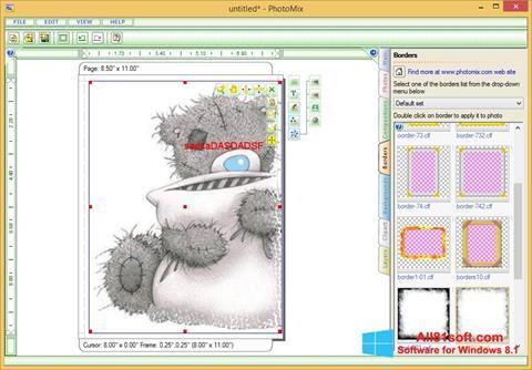 Snimak zaslona PhotoMix Collage Windows 8.1