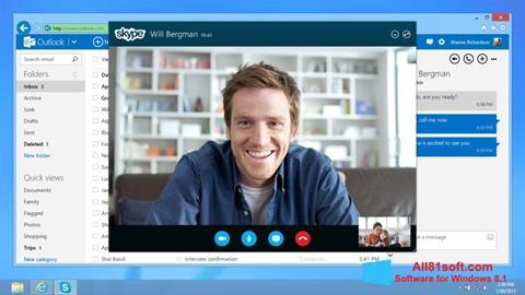Snimak zaslona Skype Windows 8.1