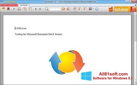 Snimak zaslona DocX Reader Windows 8.1
